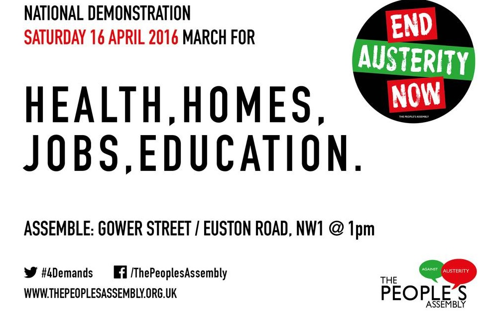 MARCH FOR HEALTH, HOMES, JOBS AND EDUCATION: APRIL 16 2016